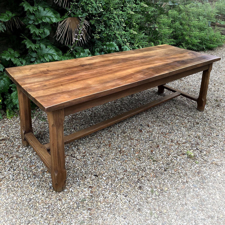 Large late 19th Century Walnut & Oak Refectory table