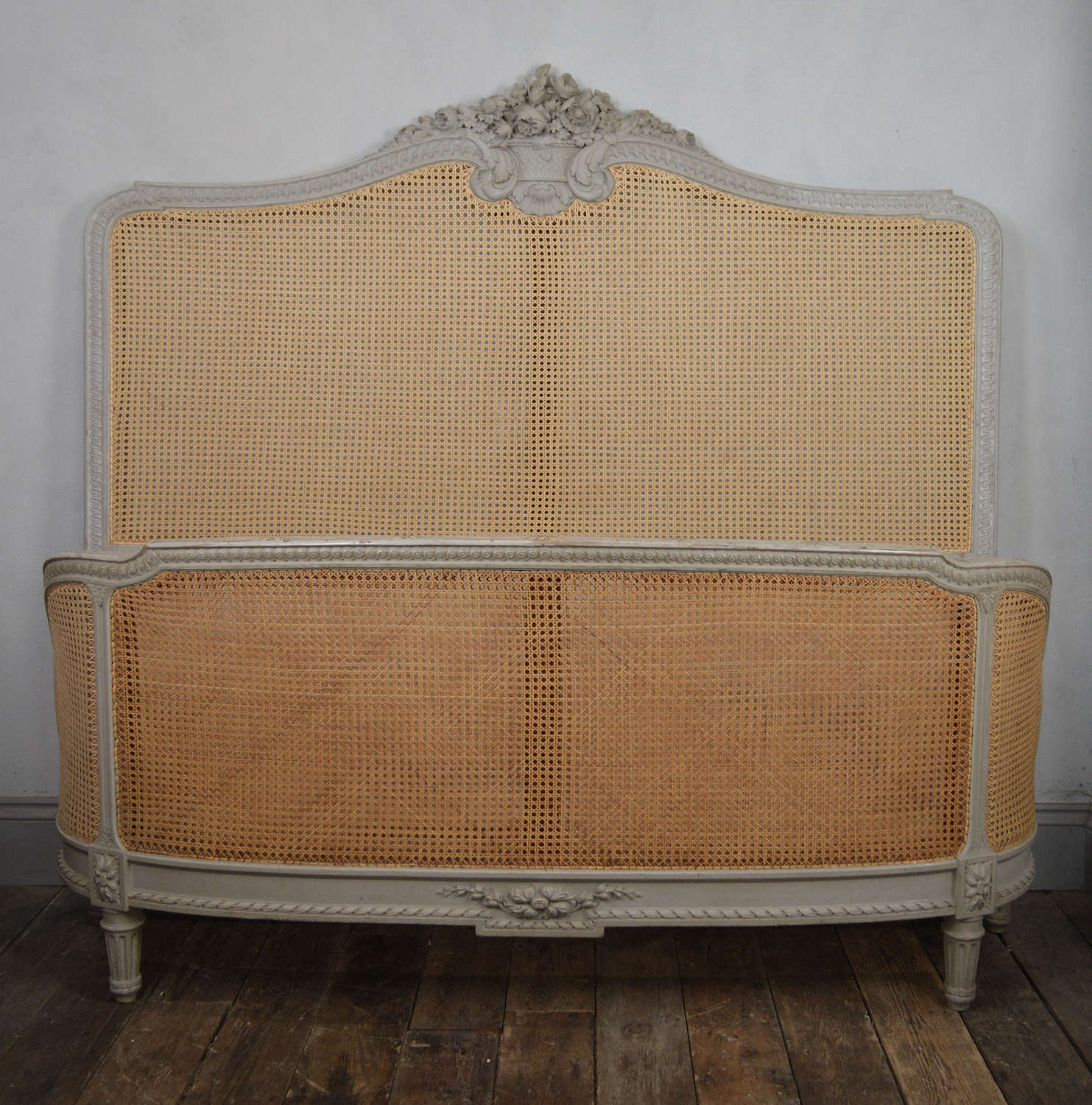 19th Century Louis XVI style king size bedstead