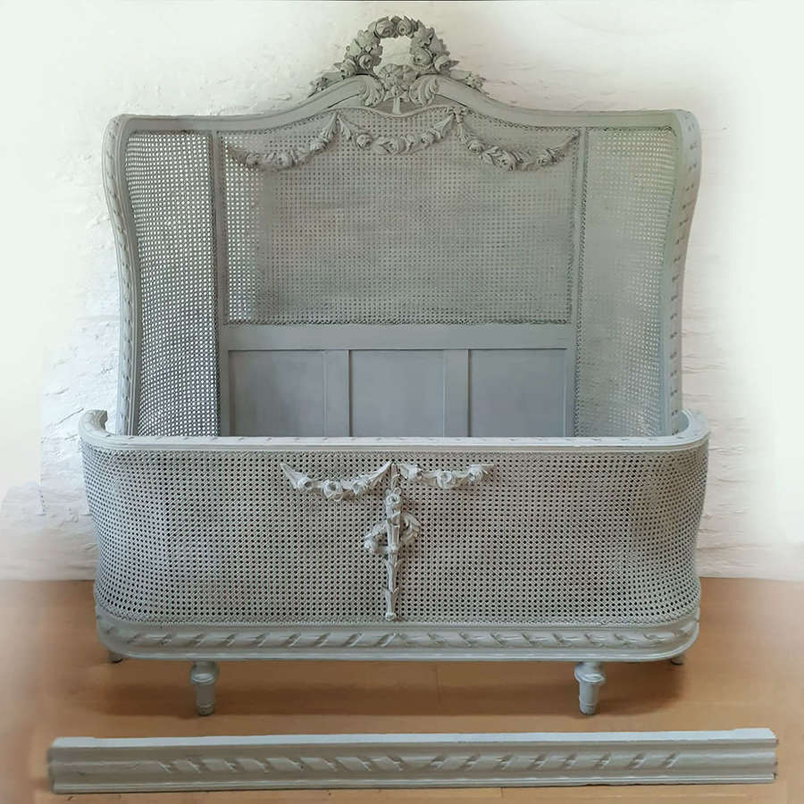 Late 19th Century Louis XVI style cane bedstead