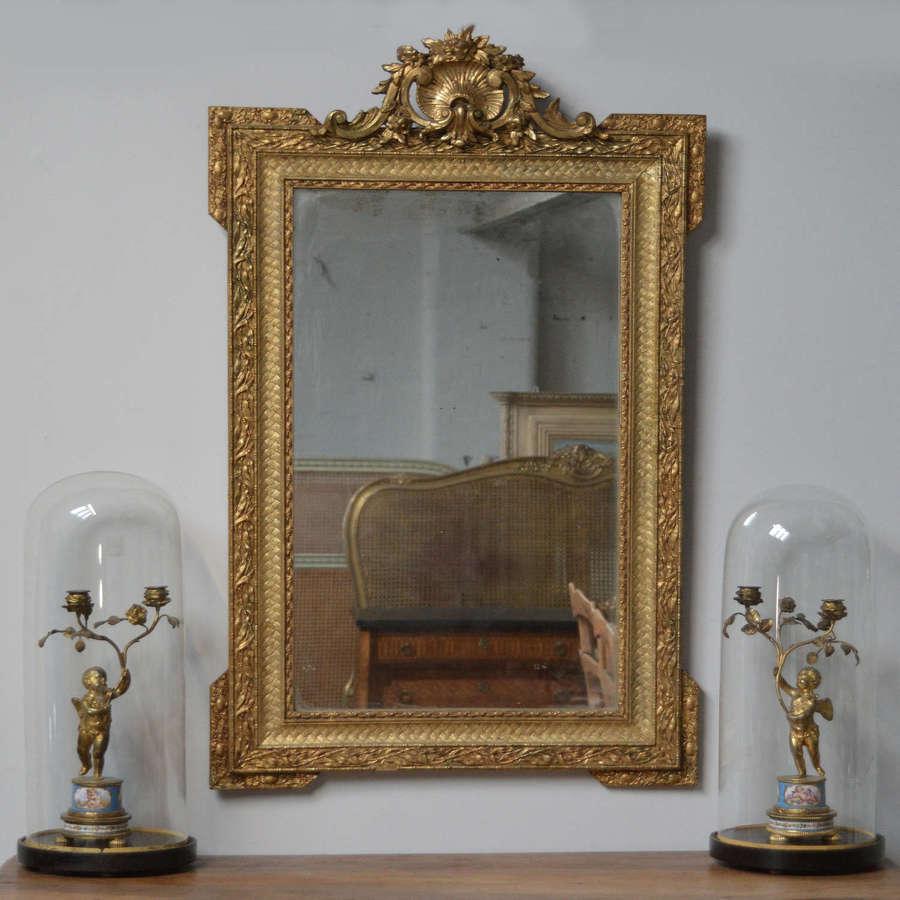 Late 19th Century Napoleon III gilt mirror