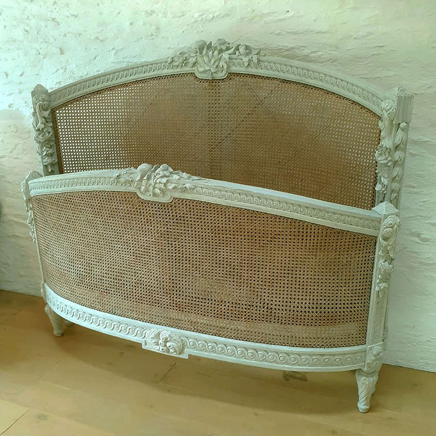 19th Century Louis XVI style cane bedstead
