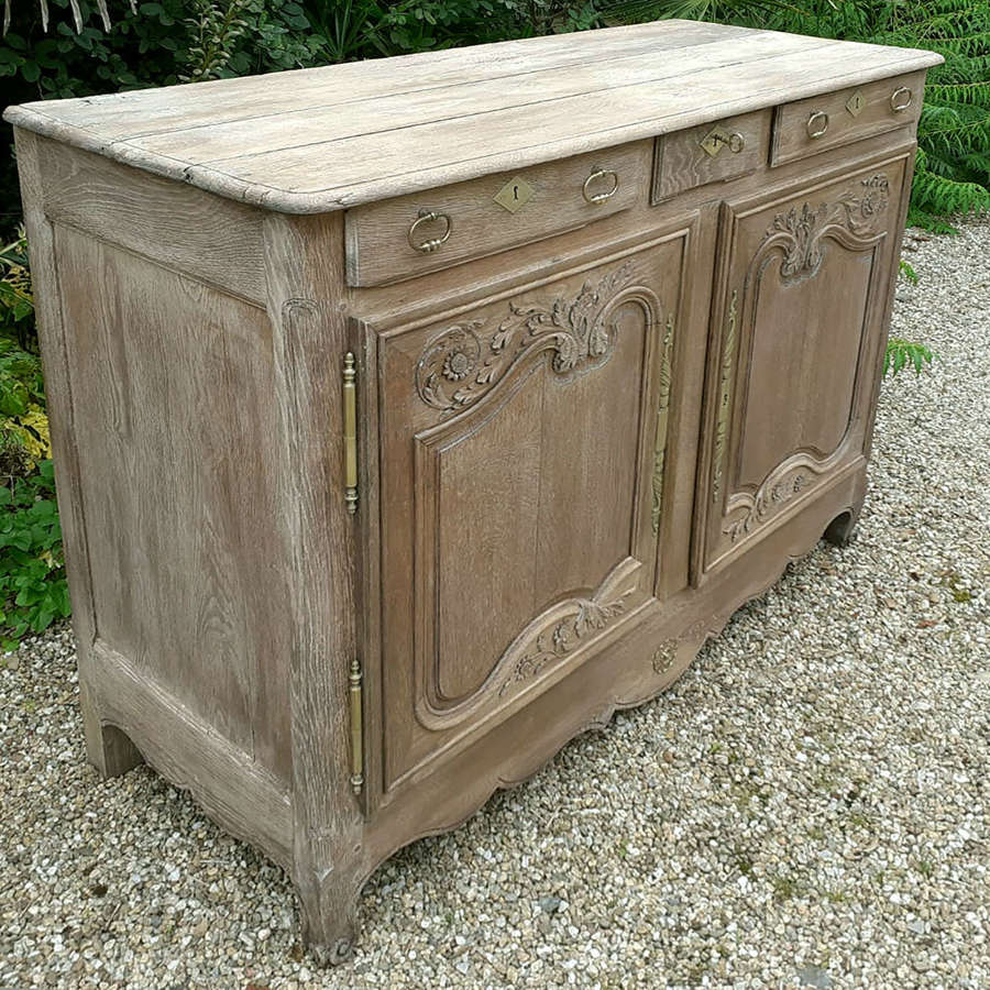18th Century Carved Oak Norman marriage buffet