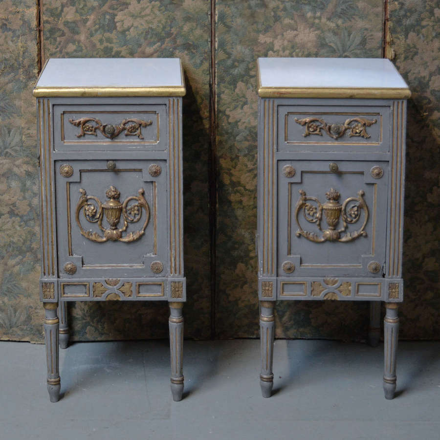Pair of 19th Century Piedmont Bedside cabinets