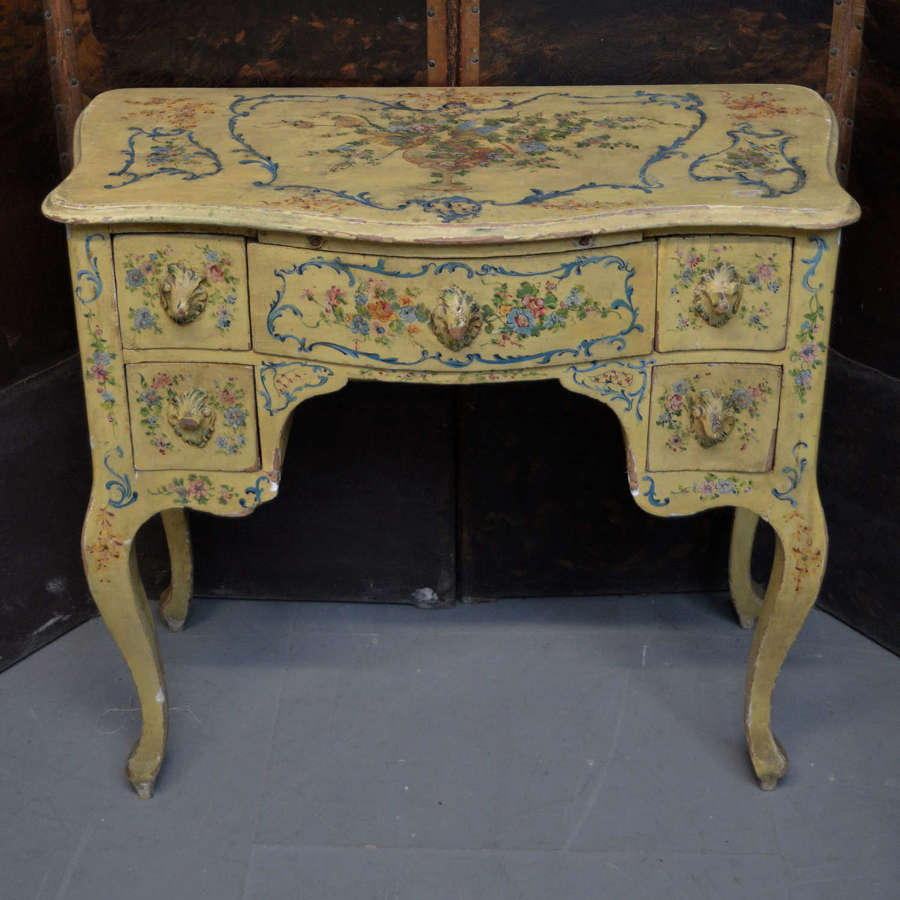 Mid 19th Century Hand painted Venetian desk
